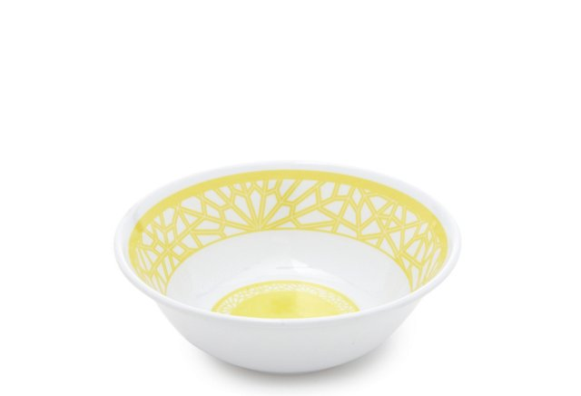 S/4 Tangiers Melamine Bowls, Bright Sun