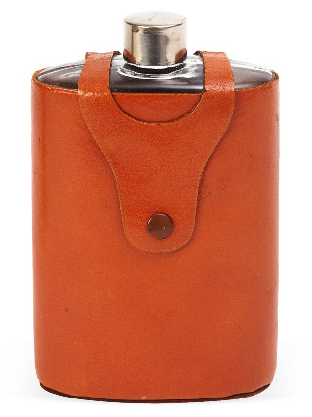 Leather-Covered Flask