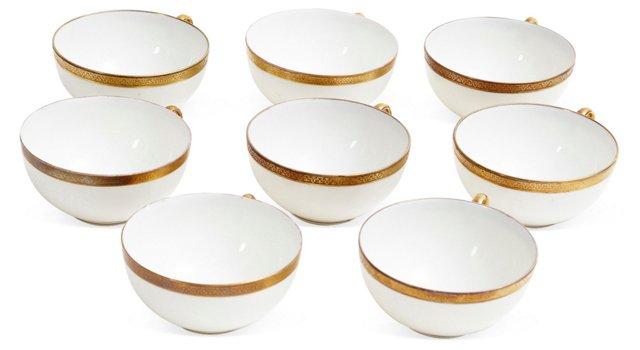 Limoges Coronet Teacups, Set of 8