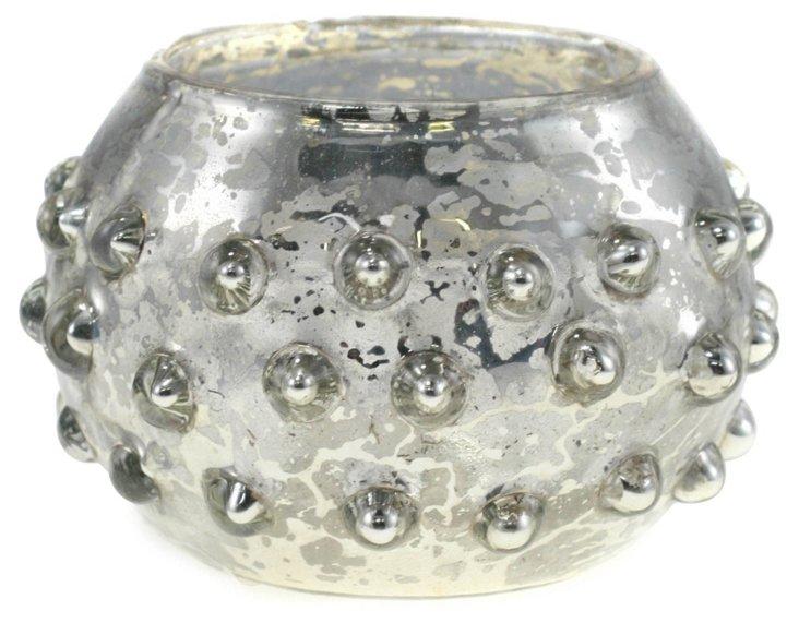 Mercury-Glass Vessel, Antiqued Silver