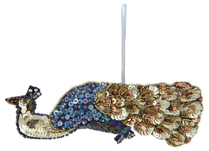 Large Peacock Ornament