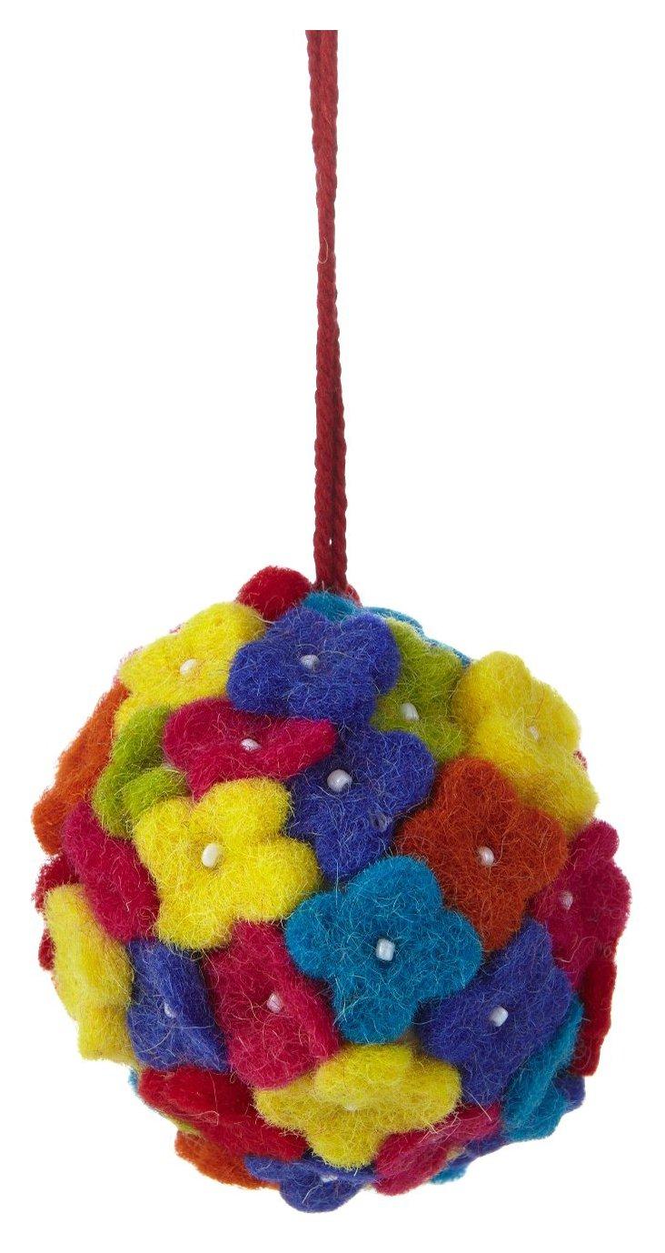 Posies Ornament, Multicolored