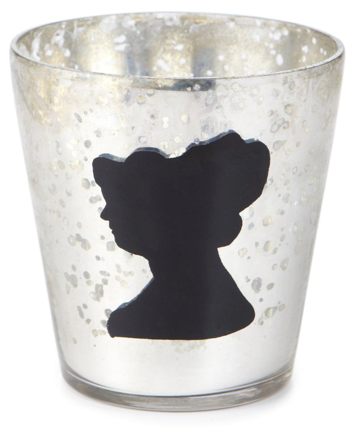 Lady Face Votive, Silver