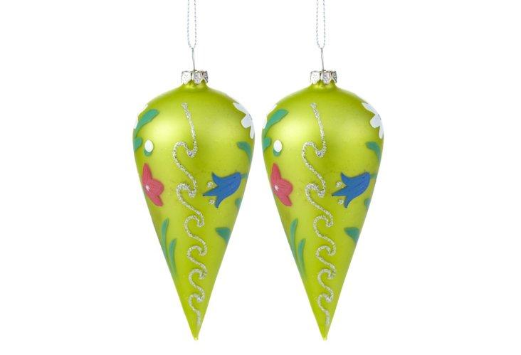S/2 Citron Ornaments