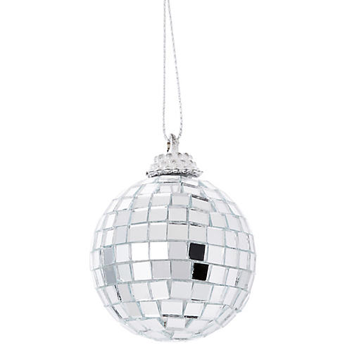 Asst. of 3 Disco Ball Ornaments, Silver