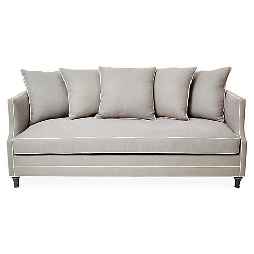 Dumont Sofa, Dove/White Linen