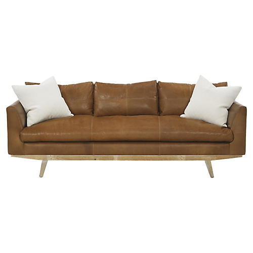 Newell Sofa, Tobacco Leather