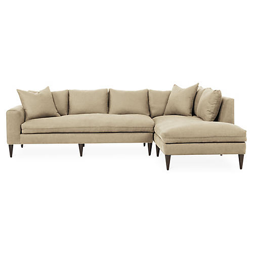 Upton Right-Facing Sectional, Beige