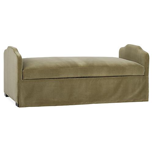 Libby Premium Trundle Bed, Moss Velvet