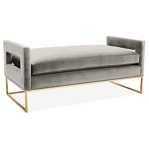 Bevin Daybed, Light Gray Velvet