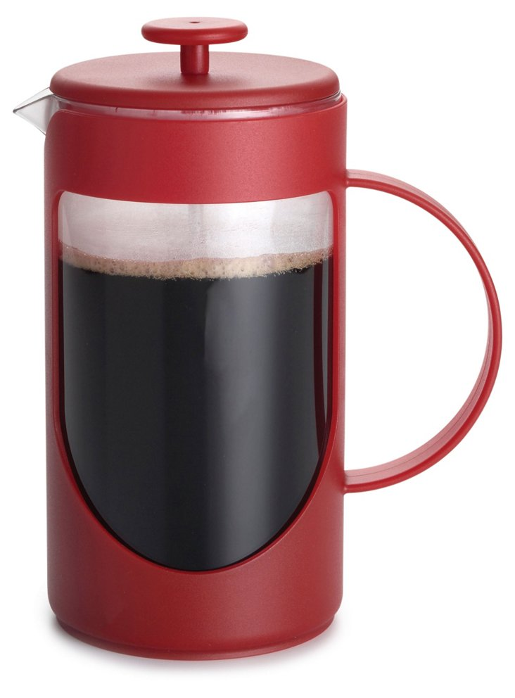 3-Cup Unbreakable French Press, Red