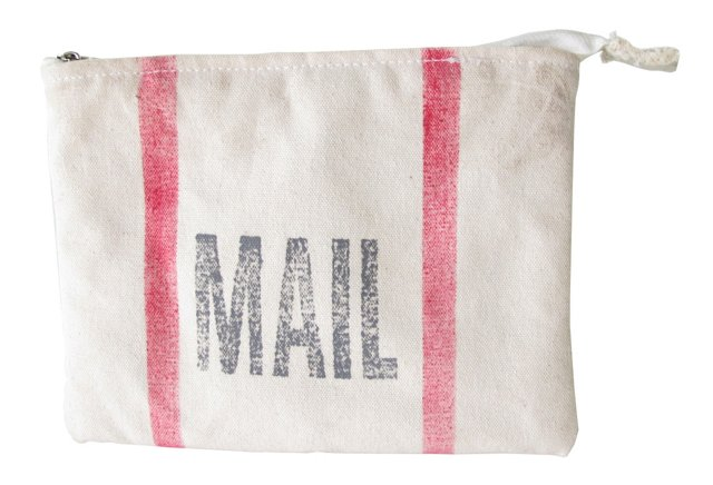 Mail Canvas Pouch, Sage