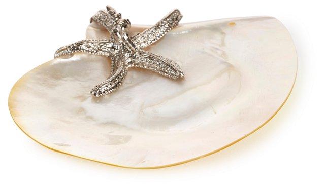 "6"" Mother-of-Pearl Dish w/ Starfish"