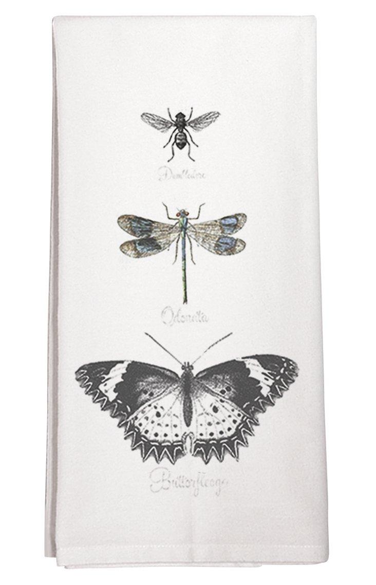 S/3 Butterfly Tea Towels