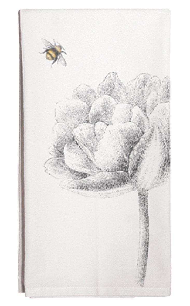 S/3 Flower & Bee Tea Towels