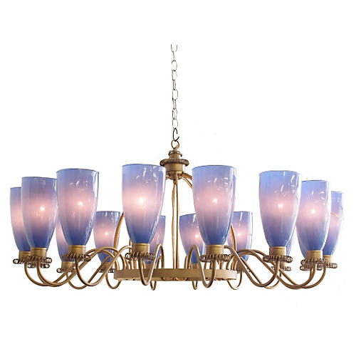 Suburban Chandelier, Twilight Blue