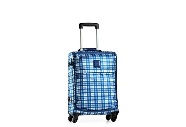 """21"""" Carry-on Spinner, Check Blue"""