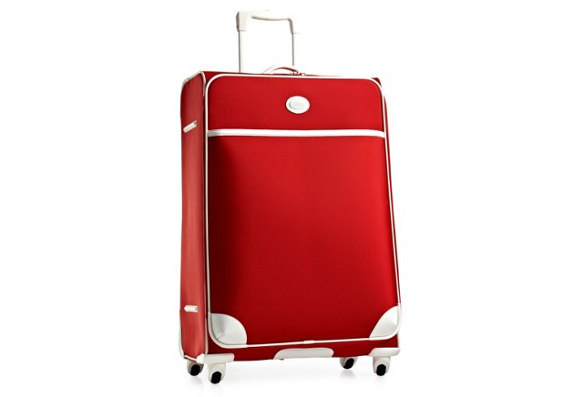 "30"" Pronto Spinner Trolley, Red/White"