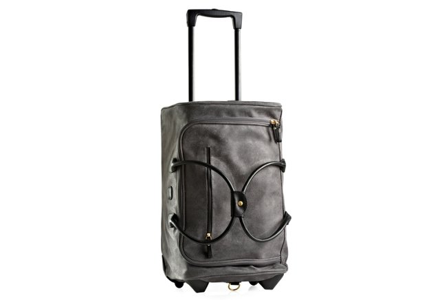Carry-On Rolling Duffel, Gray/Black