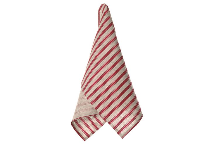S/2 Mulberry Tea Towels, Red