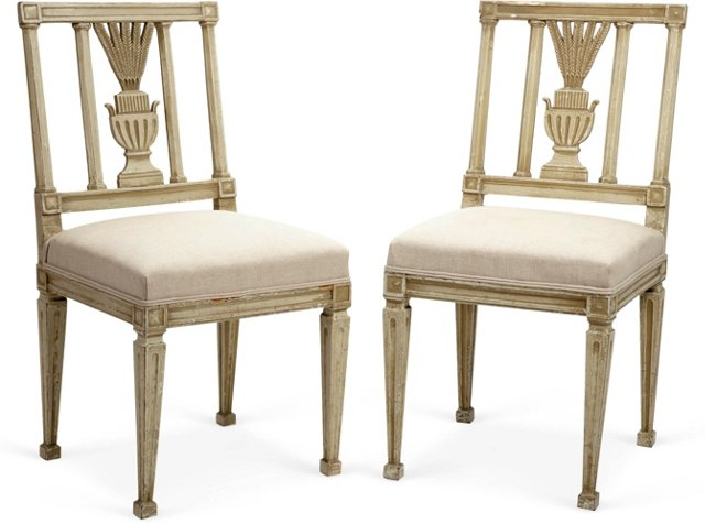 Antique Gustavian-Style Chairs, Pair