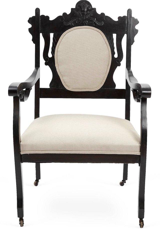 19th-C. Renaissance Revival Armchair
