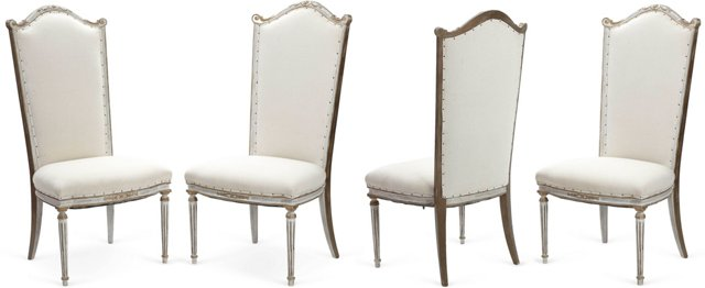 Louis XVI-Style Dining Chairs, Set of 4