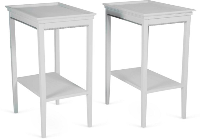 Painted Side Tables, Pair