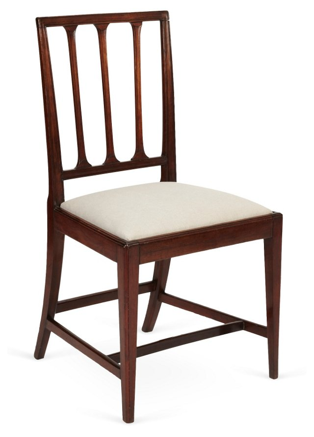 Late-18th-C. George III Mahogany Chair