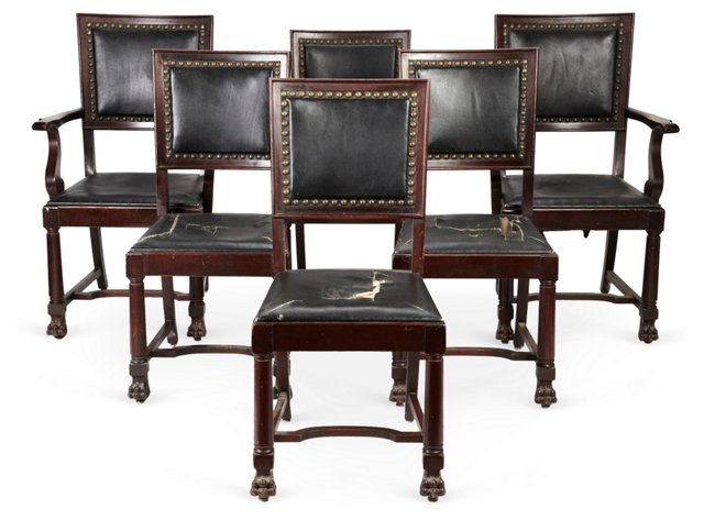 Mahogany Dining Chairs, Set of 6