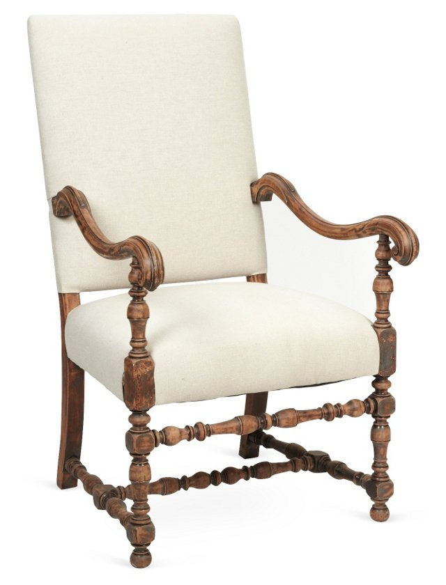 Antique Louis XIII-Style Armchair