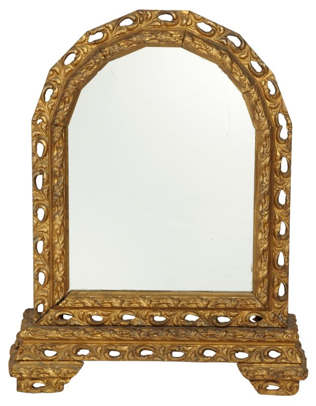 Antique Italian Arched Mirror