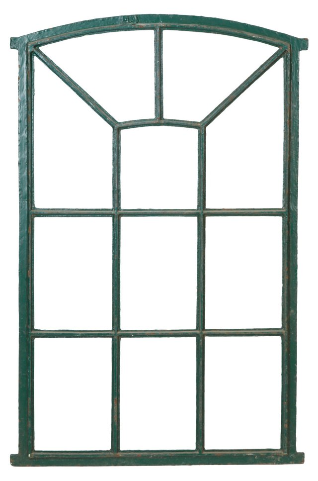 Antique Iron Window Frame