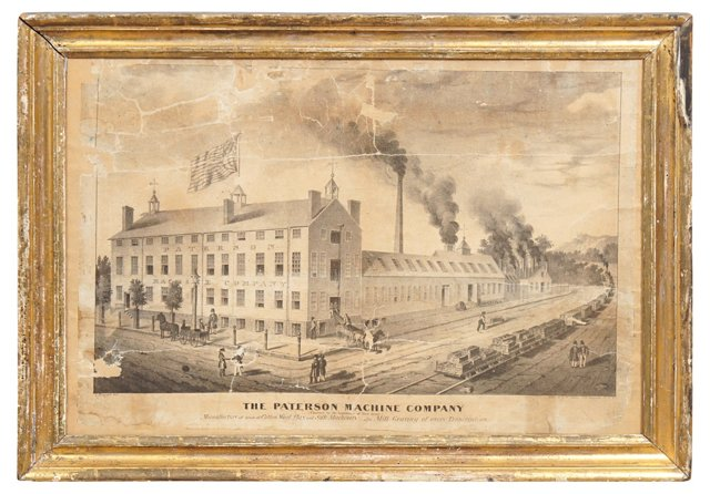 1840s Patterson Machine Co. Lithograph