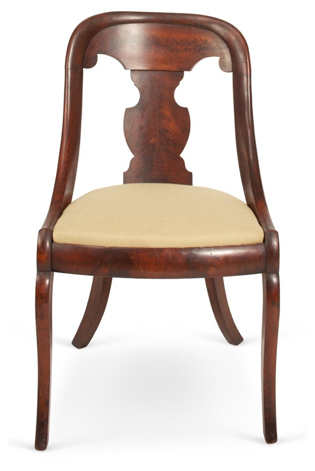 Antique Empire-Style Side Chair