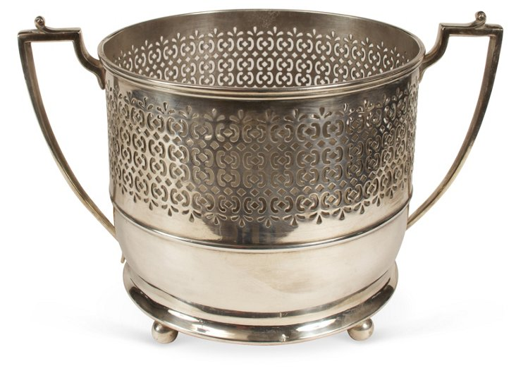 Reticulated Silverplate Planter