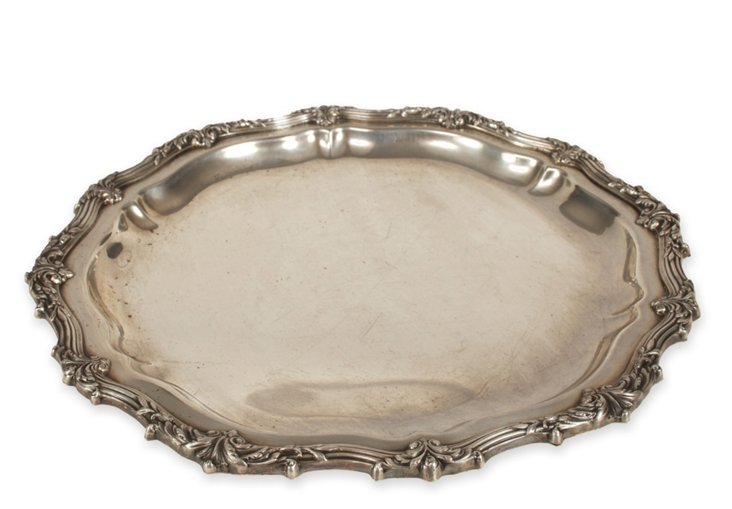Round Silverplate Tray