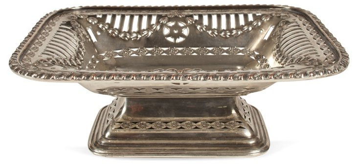 Antique Silverplate Pedestal Dish