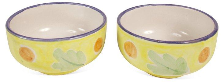 Vietri Solimene Cereal Soup Bowls, Pair
