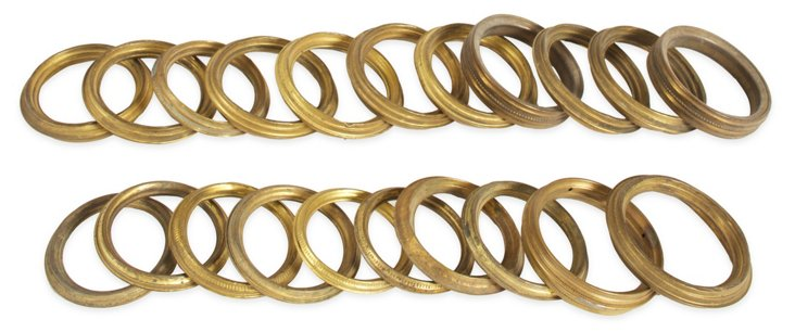 Antique Brass Curtain Rings, 20 Pcs