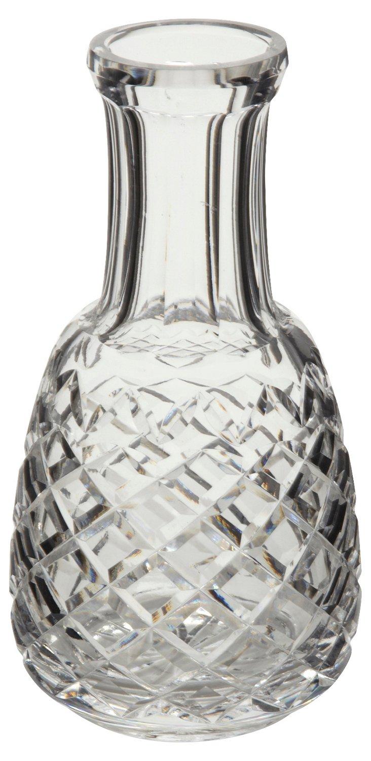 Diamond-Cut Crystal Carafe