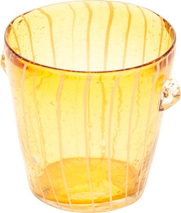 Yellow Glass Ice Bucket