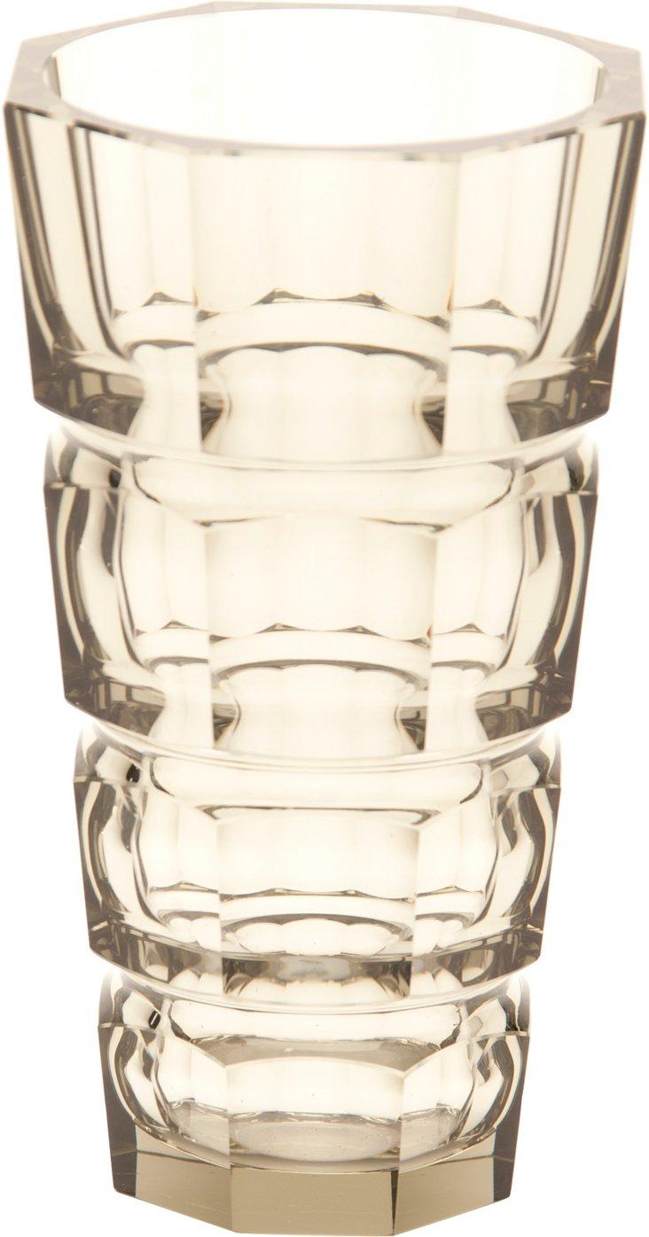 Baccarat Smoked Glass Vase