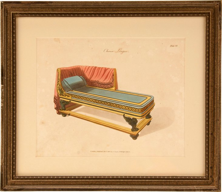 Chaise Longue Engraving