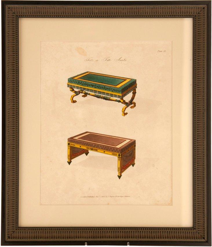 Smith Engraving, Tête-à-Tête Seats