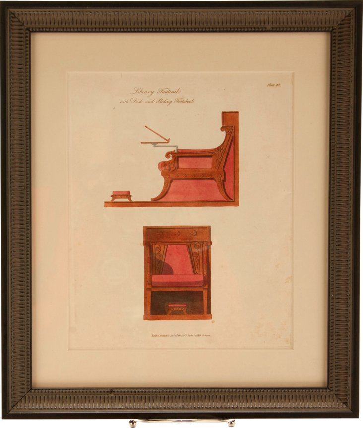 Smith Engraving, Fauteuil & Footstool