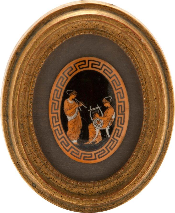 Framed Greek Plaque