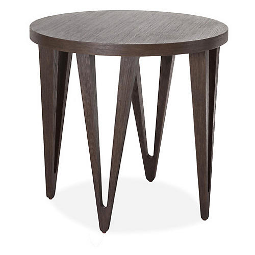 """Hudson 26"""" Round Side Table, Tobacco"""