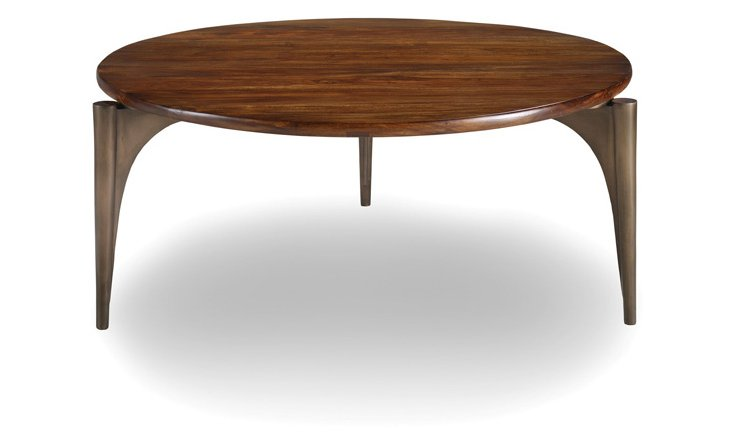 """Palisades 41"""" Round Coffee Table, Tawny"""