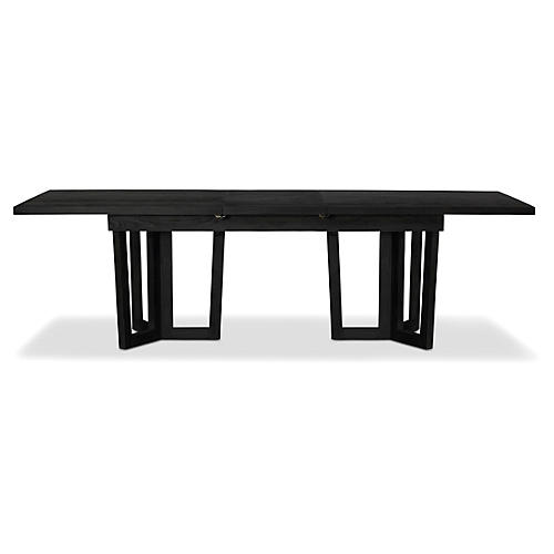 """Alfie 80"""" Extention Dining Table, Mink"""